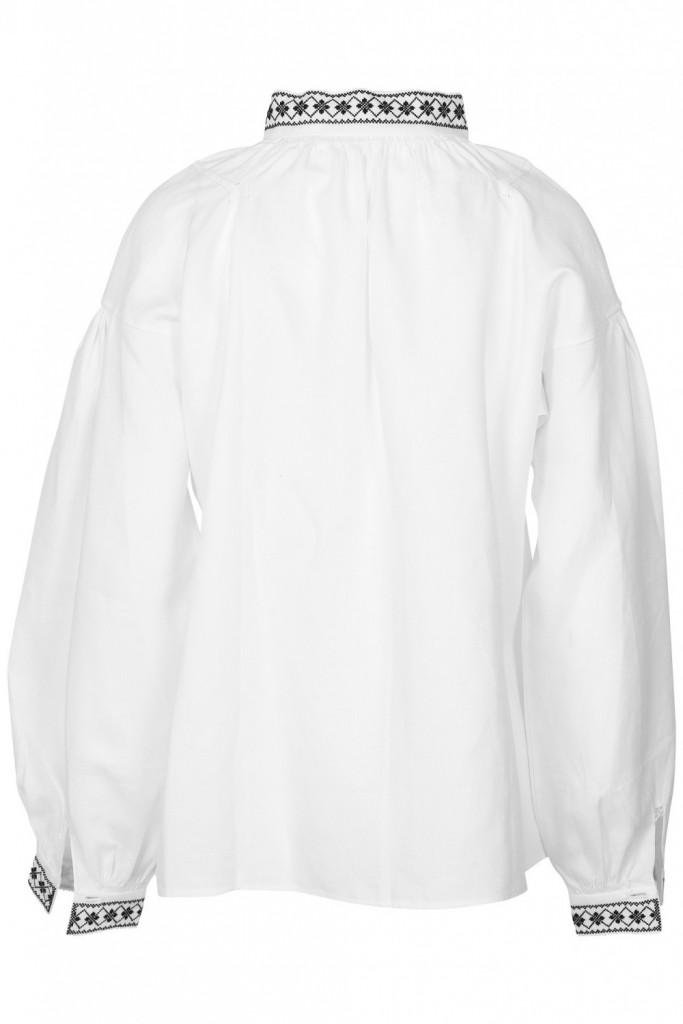 Bunadskjorte linskjorte Nordfjord svartsøm   Barnebutikk på