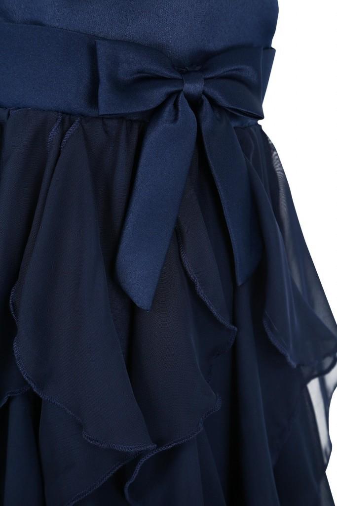fa7625ece52b Pascal kjole med sløyfe marineblå
