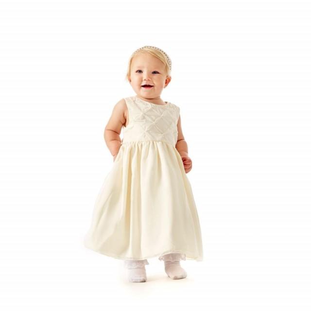 222b3322 Pascal brudepikekjole med perler ivory | Barnebutikk på nett